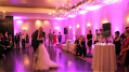 This image shows we used a small amount of uplighting to give the wedding couple's first dance the purple room they desired. Photo by Artistic Illumination.