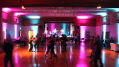 This image shows the event lighting for this special event in Victoria included lighting the stage and the dance floor. Photo by Artistic Illumination.